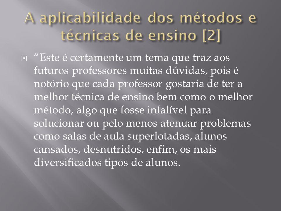 A aplicabilidade dos métodos e técnicas de ensino [2]